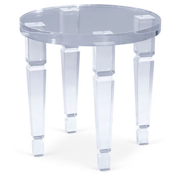 Roma Side Table, Clear, Acrylic / Lucite, Standard Side Tables