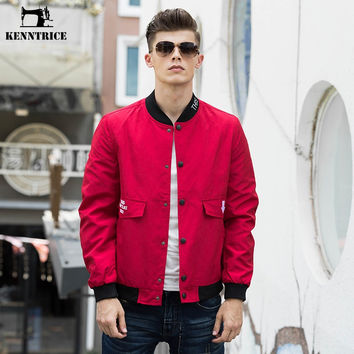Spring Cotton Wash Bomber Jackets Men Flight Jacket Ma-1 Red Black Pocket Coat Thin Slim Fit Baseball Jackets Men
