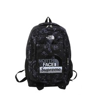 The North Face SUPREME Woman Men Fashion Backpack School Bag Bookbag Daypack Travel Bag