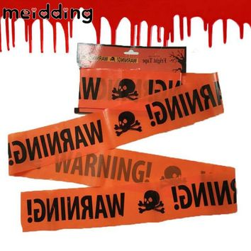 MEIDDING Halloween Warning Caution Tape Halloween Party Danger Tape Warning Tape Isolation Belt Sign Garden Decoration 580x8.5cm