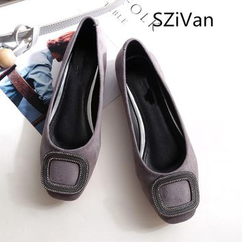 SZiVan Women Shoes Ladies Shoes Shallow Ballet Flats Woman Casual Shoes Fashion Sapato Zapatos Mujer Womens Loafer Slip on Flats