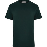 River Island MensGreen crew neck t-shirt