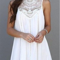 Womens Dresses Arrival Summer White Lace Party Dresses Club Casual Vintage Beach Mini Sun Dress