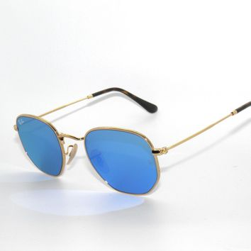 Cheap RAY BAN SunglaSSeS 3548N 3548 GOLD/LIGHT BLUE FLASH 001/9O NEW 48 outlet