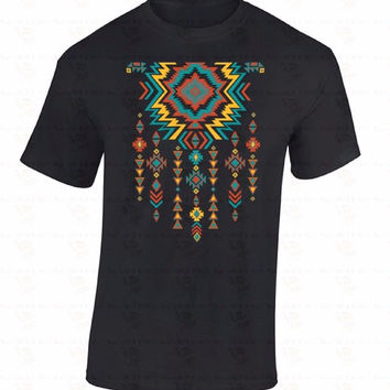 Summer Sleeves Fashiont O-Neck Short Southwest Necklace Pattern  Native American Indian Graphic Sw Premium Mens Tee Shirts