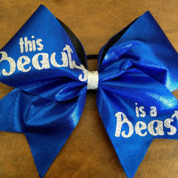 Cheer Bow - This Beauty is a Beast