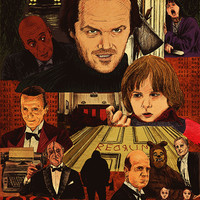 """The Shining Movie Poster"" by Michael DeNicola"