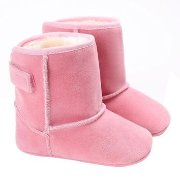 Baby Kids Girl Boy Shoes Warm Boots Soft Sole Booties Snow Boot Infant Toddler Newborn Crib Shoes