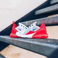 qiyi Women's Nike Air Max 270 Ultramarine - White/Ultramarine/Solar-Red