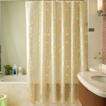 PEVA Mold Proof Waterproof Bath Curtain Eco-friendly Endless Thicken Shower Curtain Home Bathroom Decor 180*180cm