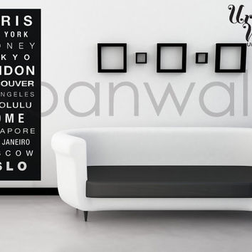 Vinyl Wall Sticker Decal, City Subway Sign