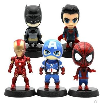 Batman Dark Knight gift Christmas Cute Hot Solar Powered Dancing Figures Marvel Batman Treeman One Piece Swinging Bobble Dancer Solar Toys Car Decoration Gift AT_71_6