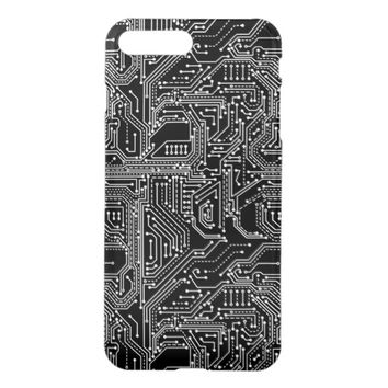 Computer Circuit Board Uncommon Clearly Deflector iPhone 7 Plus Case