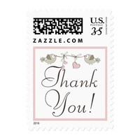 Adorable Baby Birds | Baby Shower Thank You Postage