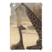 Baby Giraffe with Mother, iPad Mini Case from Zazzle.com