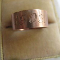 Victorian Wedding Band, 1903, 14K