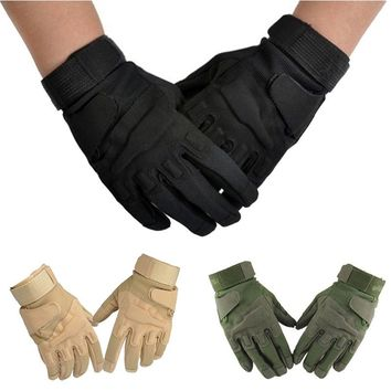 work gloves safety gloves Military Outdoor Full Finger Tactical Airsoft Hunting Riding Gloves