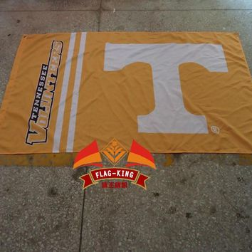 free shipping  College banner  University of Tennessee Educational institution flag,100% polyester flag,3*5 foot, NFL,NHL