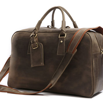 Classic Leather Travel Bags Men's Business Travel Bag Big Size Travel Bag_Travel Bags_Men's Leather