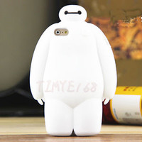 Cartoon White Big Hero 6 Baymax Silicone Soft Case Cover For Various Cell Phone