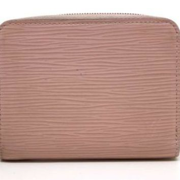 Louis Vuitton M61206 Epi Zippy Coin Case Purse Rose Pink Used