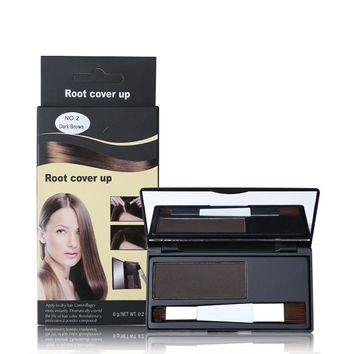 Dexe Temporary Hair Dye Powder Root Cover Up Gray Hair Become Black Brown Blonde Professional Hair Color