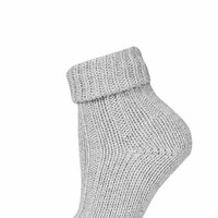 Rolled Top Chunky Ankle Socks - Cream