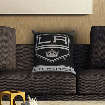 L.A Kings NHL Ice Hokey Pillow Cover , Custom Zippered Pillow Case One Side Two SIde