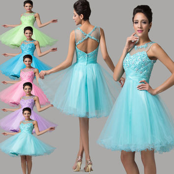 SWEET 18 SEMI FORMAL DANCE PROM SHORT BIRTHDAY HOMECOMING SHORT DRESS GRADUATION