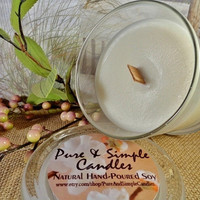Soy Candle, Aromatherapy Candle, Herbal & Spa Candle, Hand Poured, Soy Wax, Highly Fragranced, Wood Wick, 12oz Glass Container, ECO-Friendly