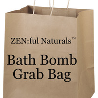 Bath Bomb Grab Bag- Half Dozen, Bath Bombs Gift Set, Holiday Gift Ideas