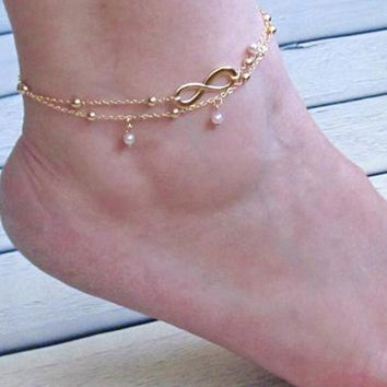 2pcs infinite anklet 2