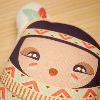 Plush Baby American Indian Fabric Doll by MaishopCuteThings