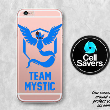 Team Mystic Clear iPhone 6s Case iPhone 6 iPhone 6s Clear Case iPhone 6 Plus iPhone 5c iPhone SE Clear Case Pokemon Go Blue Team Mystic Cool