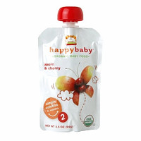 HappyBaby - Organic Stage 2 Baby Food - Apple & Cherry