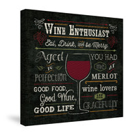 Wine Enthusiast I Canvas Wall Art