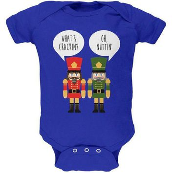 PEAPGQ9 Christmas Nutcracker What's Crackin' Funny Soft Baby One Piece