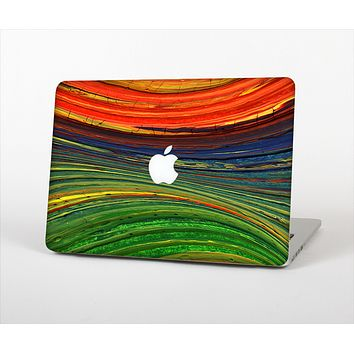The Green, Blue and Red Painted Oil Waves Skin Set for the Apple MacBook Pro 15""