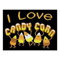 Halloween Candy Corn Love Art Poster