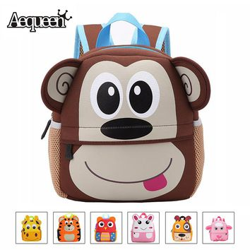 AEQUEEN Cute Kid Toddler Animal Backpack Infant Schoolbags Bag Small Mini 3D Dog Anime Children Baby Girls Boys School Backpacks