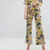 Aeryne All Over Printed Wide Pants With Side Splits at asos.com