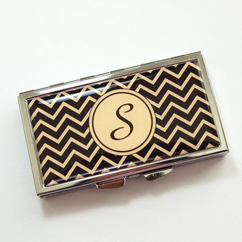Monogram Pill case, Pill box, Pill case, 7 sections, 7 day, Monogram, Chevron, Personlized Pill Case, Custom Pill Case (3871)