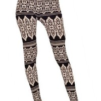 Sexy Pattern Print Design Winter Fitted Fabulous Stretch Leggings:Amazon:Clothing