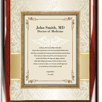 Medical School Graduation Picture Frame Gift