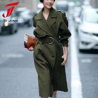 COOL GREEN 2017 New Design Winter coat women Wool Coat Trench Oversize Warm Women's coat European Fashion Women's clothing Z317