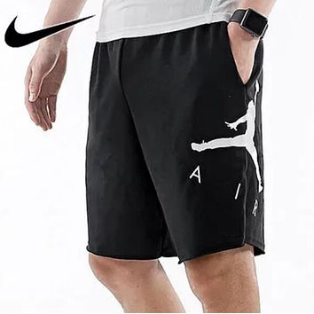 cdd3e979d417 Nike Air Jordan Men Women Casual Sports Running Basketball Shorts Black