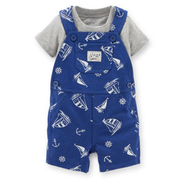 2-Piece Tee & French Terry Shortall Set