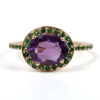 Catbird :: WHAT'S NEW: jewelry :: Delilah Ring, Amethyst and Tsavorite