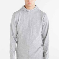 Publish Asymmetrical Pieced Pullover Hooded Shirt- Charcoal