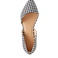 Gingham Pointed Toe D'Orsay Flats | Charlotte Russe